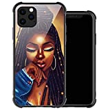 ZHEGAILIAN iPhone 11 Case,Girly Black Girl 9 iPhone 11 Cases for Women Girls,Anti-Slip Drop Protection with Soft TPU Bumper Pattern Design Case for Apple iPhone 11 6.1-inch