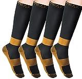 MELERIO Copper Compression Socks Men Women for Edema,Varicose Veins, Travel
