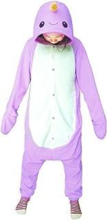 Animal Cosplay Costume Narwhal Unisex Adult Pajamas