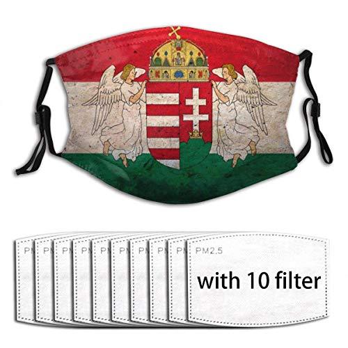 seasonsun Nonbrand Unisex Full-Coverage Tube Face Mask Bandanas UV Protection Neck Gaiter Headband, Hungary Flag