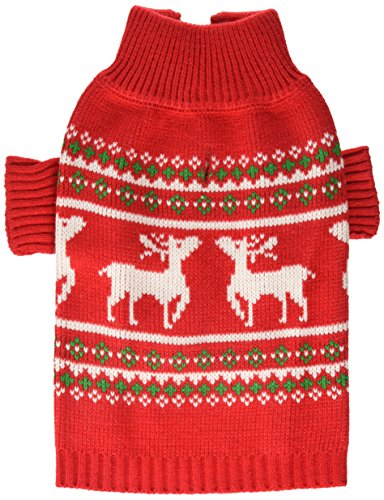 Stinky G Festive Reindeer Dog Sweater Green Size...
