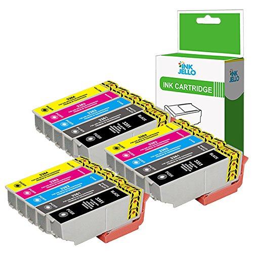 InkJello Compatibile Inchiostro Cartuccia Sostituzione Per Epson XP-530 XP-540 XP-630 XP-635 XP-640 XP-645 XP-830 XP-900-33XL (Nero/Foto-Nero/Ciano/Magenta/Giallo, 15-Pack)