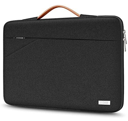 TECOOL Sleeve per Laptop, Custodia Morbide Borsa con Maniglia per 14 Pollici Computer Portatile Acer dell HP Lenovo Thinkpad Ideapad, Nero assoluto