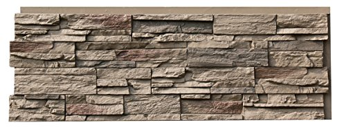 NextStone Polyurethane Faux Stone Panel - Country Ledgestone - Teton Buff (4 Panels per Box)