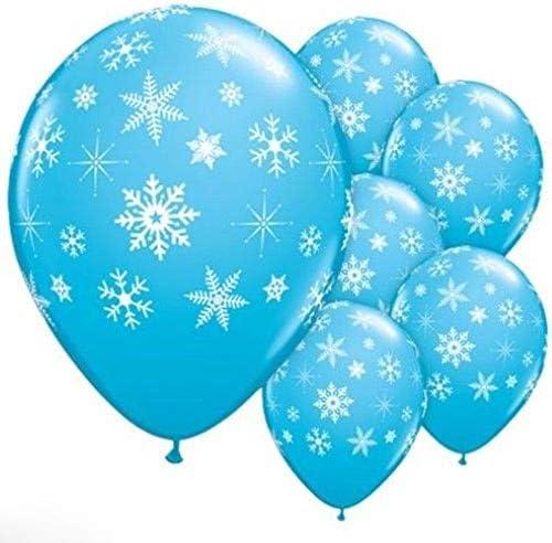 LOUQINGDZ Virginia Beach Mall Balloons 12pcs Max 71% OFF Snowflake Blue Frozen