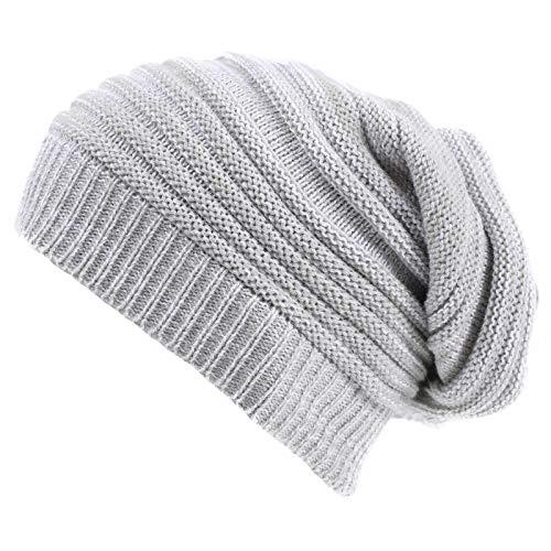 Valpeak Bonnet d'hiver souple et chaud pour homme et femme - Beige - Medium