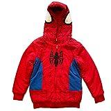 Spider-Man Little Boys Sherpa Fleece Hoodie, 5-6, Red