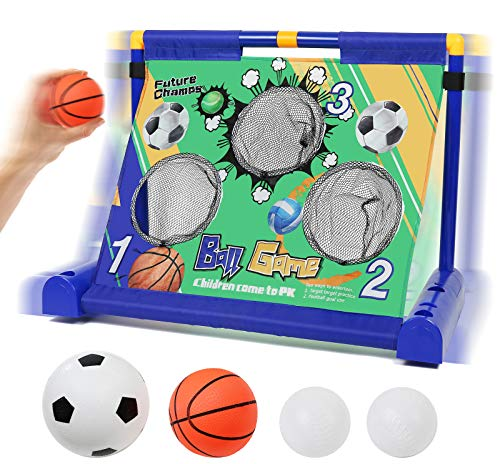 TeaganPlay Electronic Moving Mini Basketball Soccer Aiming Cornhole Skee Ball Game for Kids and Toddlers