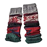 BHYDRY Calentadores de piernas calientes de invierno Cable Tejido de punto Crochet Calcetines largos...