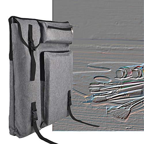 Caballete Art Student multifunción Mochila 4K Hombro Bolsa de Mano Has Estado Tablero de Dibujo Bolsa Artes y Manualidades HUYP (Color : Gray)