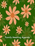 Family Meeting Agenda: Keepsake Notebook for Taking Minutes, Family Meeting Organizer and Information Record Log Book Journal, Logbook Notepad with ... 120 pages (Household Planning Supplies)