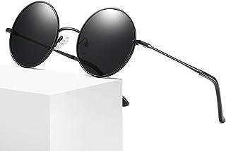 4b2e30cf6f EYEphd Gafas Redondas Retro Unisex, pequeña Columna de luz polarizada, Gafas  de Lente de