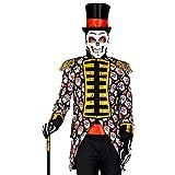 WIDMANN 50831 50831 Dia de los Muertos - Disfraz de uniforme de la fiesta del día de la muerte con chaqueta, abrigo, director de circo, disfraz, carnaval, fiesta temática, hombre, multicolor, S