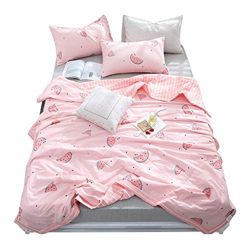 Buy Discount Quilt Stands Furniture/Bedroom Furniture Quilt Summer Cool Quilt Double Thin Quilt Spring and Autumn by Core Girl Princess Wind Air Conditioning Cotton Quilt Bedding