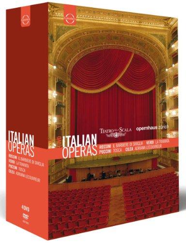 CILEA, PUCCINI, ROSSINI, VERDI (4 DVD Box) - Italienische Opern zum Sonderpreis