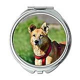 Yanteng Spiegel, Schminkspiegel, Hund Hybrid Haustier Mixed Breed Hund Aufmerksamkeit Freund, Taschenspiegel, Tragbare Spiegel