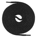 Mount Swiss runde Premium-Schnürsenkel für Militär- und Arbeitsschuhe - extrem reißfest - ø 5 mm - Farbe Schwarz Länge 100cm