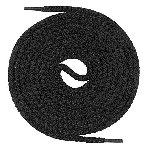 Mount Swiss runde Premium-Schnürsenkel für Militär- und Arbeitsschuhe - extrem reißfest - ø 5 mm - Farbe Schwarz Länge 220cm
