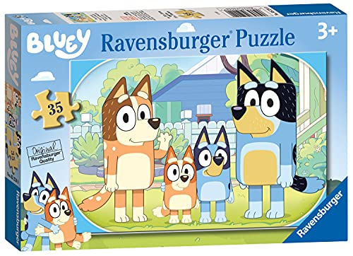 Ravensburger Bluey - Puzzle da 35 pezzi per bambini dai 3 anni in su