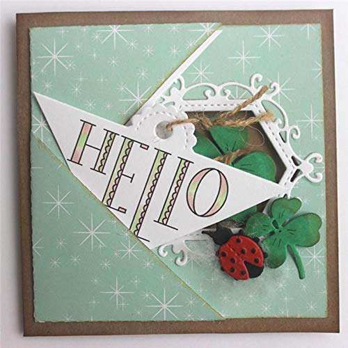 Hallo bedankt woord sterft en stempels Scrapbooking voor kaart maken reliëf Scroll hoek glimlach Hallo Baby Letter sterft, Postzegels, China