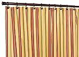 yellow stripe shower curtain