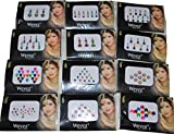 12 Gold,Silver, Multi Color Bollywood Head Bindi Tattoo Body Glitter