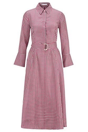 BOSS Damen Danimala3 Hemdblusenkleid aus Reiner Seide mit Print der neuen Saison