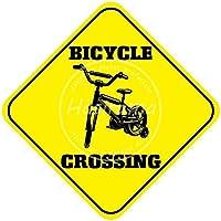 Bicycle Corssing 金属板ブリキ看板警告サイン注意サイン表示パネル情報サイン金属安全サイン