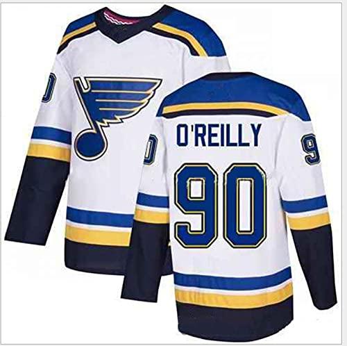 JYMEI Camiseta De Hockey sobre Hielo, Camiseta De Hockey 90 O'reilly, 91 Tarasenko, 55 PARAYKO, 50 BINNINGTON, 10 SCHENN Camiseta con Número De Letras Cosidas Ropa De Hip Hop,90 o'reilly,XXL