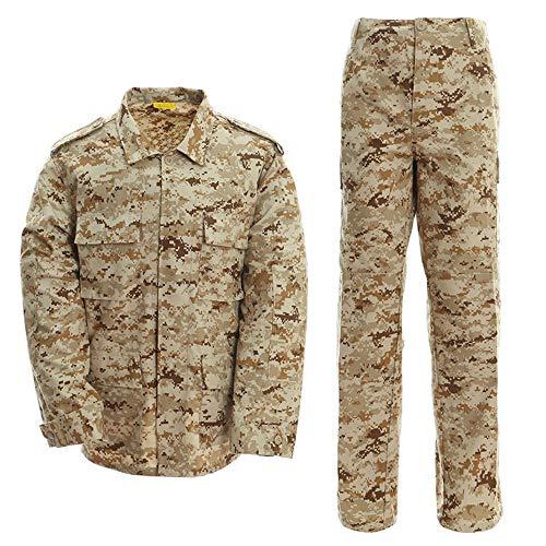 LANBAOSI Men's Tactical BDU Uniform Combat Suit Military Jacket Coat and Pants Set