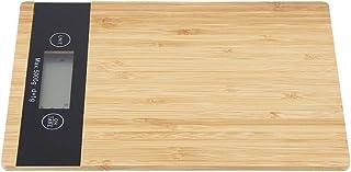 Balanza electrónica de Panel de bambú Medida de alimentos