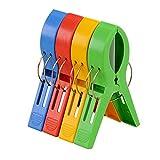 TRIXES Toalla Grande Playa de Plástico Color Brillante Clavijas Clips Cabina de Bronceado