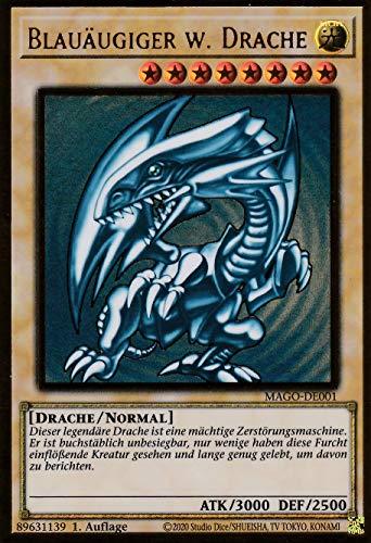 Konami - MAGO-DE001 - Juego de cartas de Yugioh (edición alemana), diseño de dragón azul