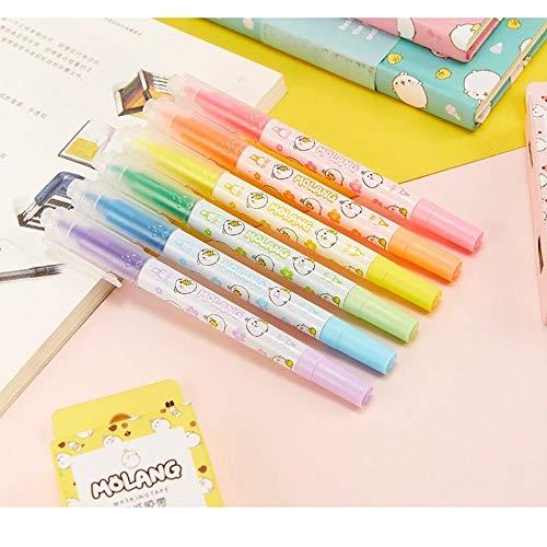 36個/ロット かわいいモランカラー 蛍光ペン 両サイドマーカー 文房具 オフィス用品 Papelaria escolar