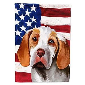 Caroline's Treasures CK6406CHF Ariege Pointer Dog American Flag Flag Canvas House Size, Large, Multicolor 37