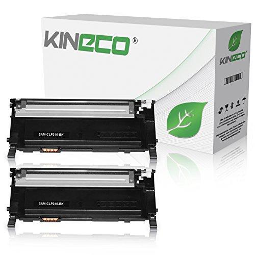 2 Toner kompatibel zu CLP-310, CLP-315, CLX-3170FN, CLX-3175FN - CLT-K4092S/ELS - Schwarz je 2.500 Seiten