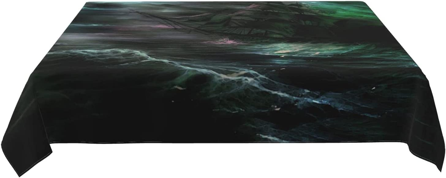 Sales for sale Roechneck Ghost Ship Waterproof Design Seattle Mall Tablecloths,Gr
