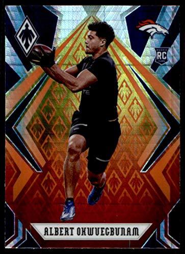 2020 Fanatics Exclusive Phoenix Football Fire Burst Prizm #191 Albert Okwuegbunam RC Rookie Denver Broncos Official NFL Trading Card