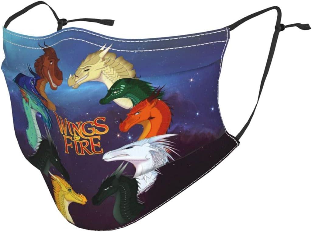 Wings-of Fi-re Kids Face Mask Washable Reusable Balaclava Bandana Adjustable eleastic Ear Loops for Boys Girls