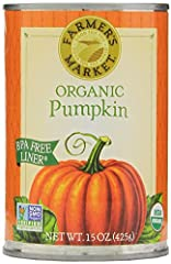 Enjoy the Farmer's Market recipe for Organic Pumpkin Puree Make organic pumpkin a wonderful vegetable side dish to your favorite meal. Great for a wide variety of delicious pastry recipes, plus additions to your oatmeal, hot drink or smoothie. Simply...