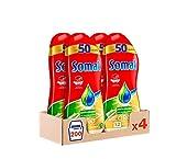Somat Oro Gel Lavavajillas Antigrasa – Pack de 4, Total: 200 lavados (3.6 L)