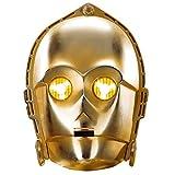 Amakando Máscara de Cartón | Antifaz C-3PO | Mascarilla Robot | Careta Star Wars
