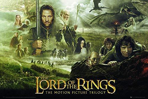 Poster Triologie Le Seigneur des anneaux (91,5cm x 61cm) + un poster surprise en cadeau!