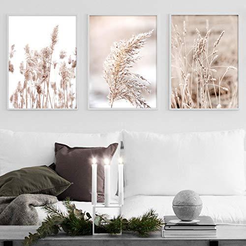 """Sungup Pflanzen Sie Wandkunst Nordische Plakate und Drucke Wandkunst Leinwand Malerei Wandbilder für Wohnzimmer Wohnkultur ohne Rahmen 19,7""""x27.6 (50x70cm) × 3Pcs"""