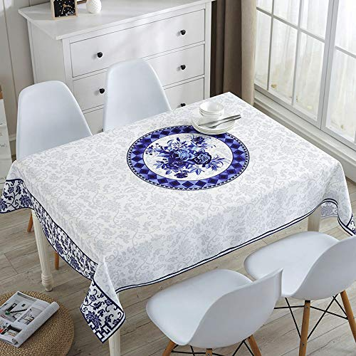 Rectangular Tablecloth Stain Proof Waterproof Washable Linen Fabric Tablecloth Wipable Tablecloth for Dining Table Covers Party Table Cloths