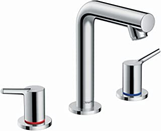 hansgrohe Talis S Modern 2-Handle 7-inch Tall Bathroom Sink Faucet in Chrome, 72130001