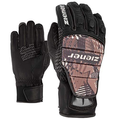 Ziener Race Glove Rennhandschuhe Handschuhe Leder Grib grau 15