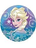 Generique - Disque Azyme Elsa La Reine des Neiges 20 cm