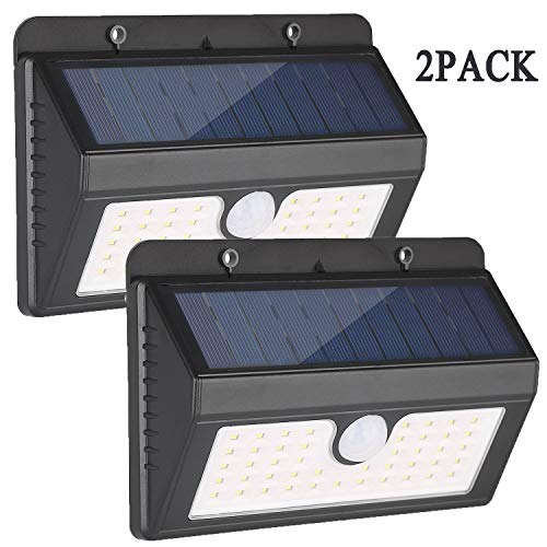 BEIDELT Solar Motion Sensor Wall Lights Outdoor,45 LED Waterproof Wireless Solar Security Wall Lights(White Light) for Front Door, Yard, Garage, Garden,Pathway,Deck-2 Pack