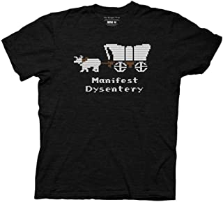 Oregon Trail Adult Unisex Manifest Dysentery Light Weight 100% Cotton Crew T-Shirt